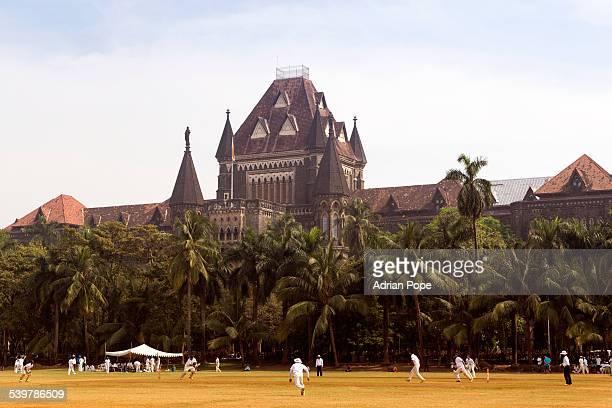 Cricket match in Oval Maidan, Mumbai