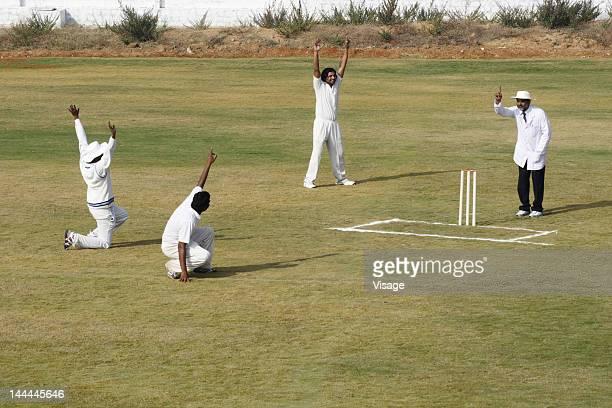 A cricket match in progress