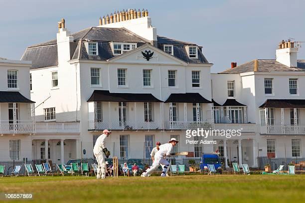 Cricket match, Sidmouth, Devon, England