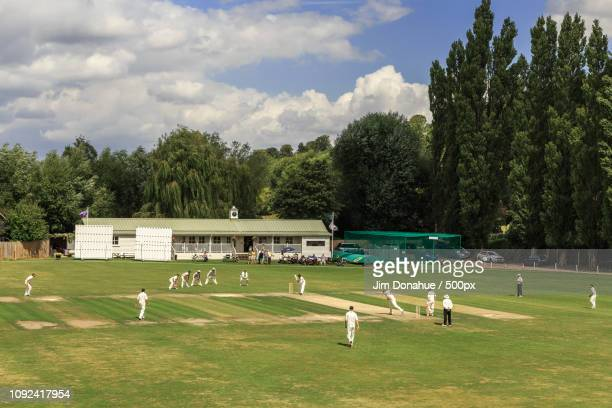 cricket on henley's brakspear's grounds - jim donahue stock pictures, royalty-free photos & images