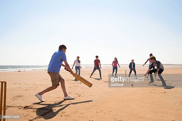 cricket on the beach - women cricket stock pictures, royalty-free photos & images