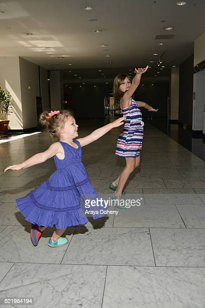 Cricket Pearl Silverstein and Birdie Leigh Silverstein attend the Milk Bookies' 7th Annual Story Time Celebration on April 17 2016 in Los Angeles...