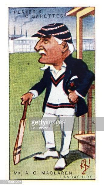 Cricket player Archie MacLaren of Lancashire and England, illustrated on a Players Tobacco Cigarette Card from 1926.