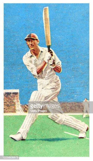 Cricket player D.R Jardine of Surrey and England, illustrated on a Gallaher Tobacco Cigarette Card from 1934.