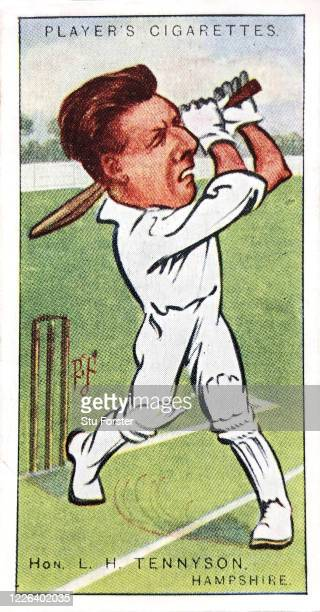 Cricket player Hon L.H. Tennyson of Hampshire and England, illustrated on a Players Tobacco Cigarette Card from 1926.
