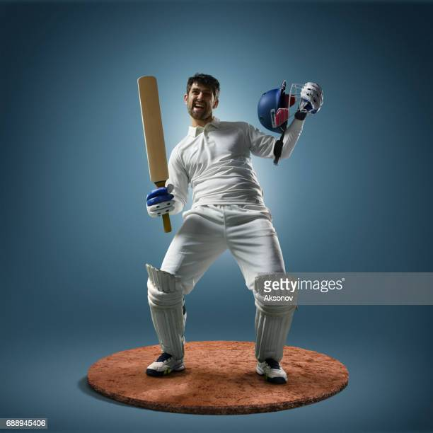 cricket player in action - sport of cricket stock pictures, royalty-free photos & images