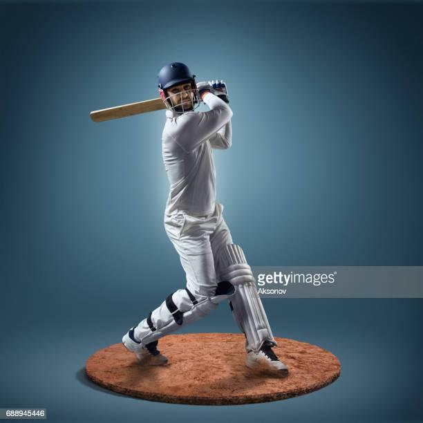 Cricketspieler in Aktion