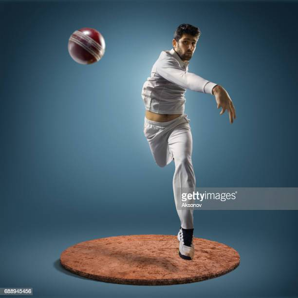 cricket player in action - cricket player stock pictures, royalty-free photos & images