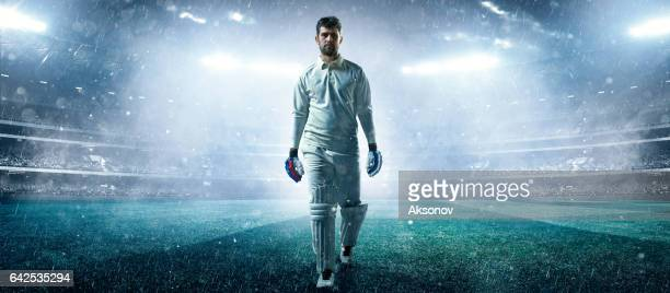 Cricket: Player on the stadium