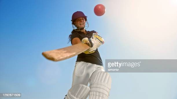 cricket player playing cricket - cricket player stock pictures, royalty-free photos & images