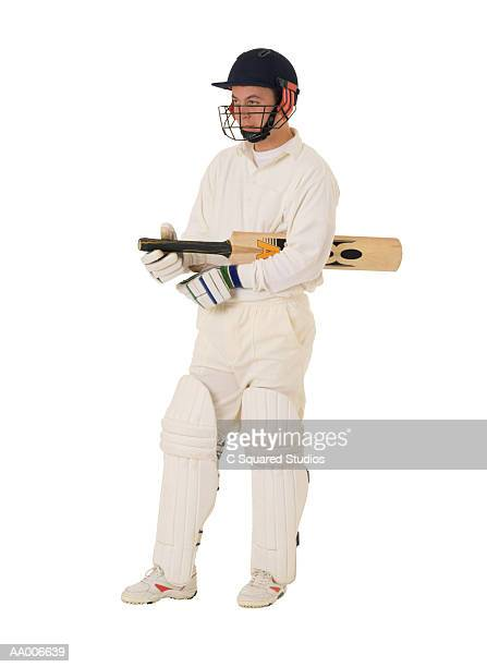 Cricket Player with a Cricket Bat