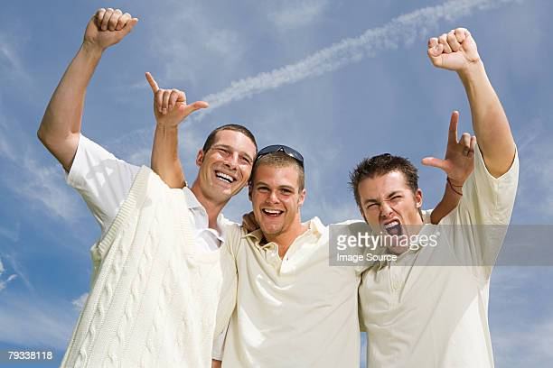 cricket players celebrating - cricket player stock pictures, royalty-free photos & images