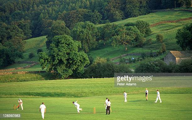 cricket players, yorkshire, england - sport of cricket stock pictures, royalty-free photos & images