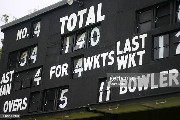 cricket scores - scoreboard stock pictures, royalty-free photos & images
