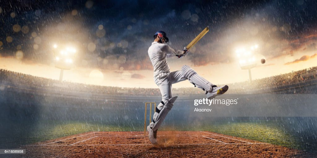 Cricket: The game moment : Stock Photo