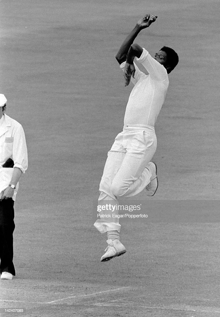 'Cricket World Cup 1979, England v West Indies at Lord's (Final) Joel Garner bowling 62162_5(Photo by Patrick Eagar/Patrick Eagar Collection via Getty Images)'