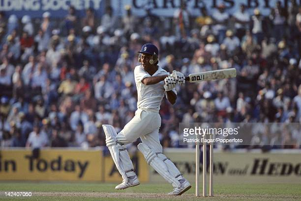"""Cricket World Cup 1979, West Indies v Pakistan at The Oval Zaheer Abbas batting during his 93 E795355"""