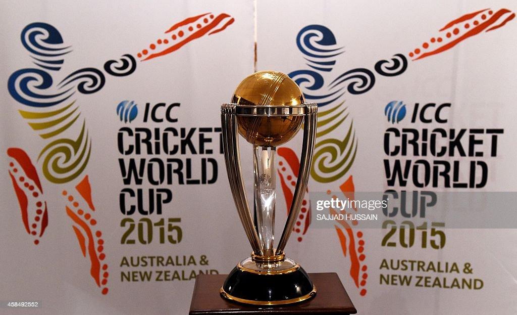 CRICKET-IND-WC2015-TROPHY : News Photo