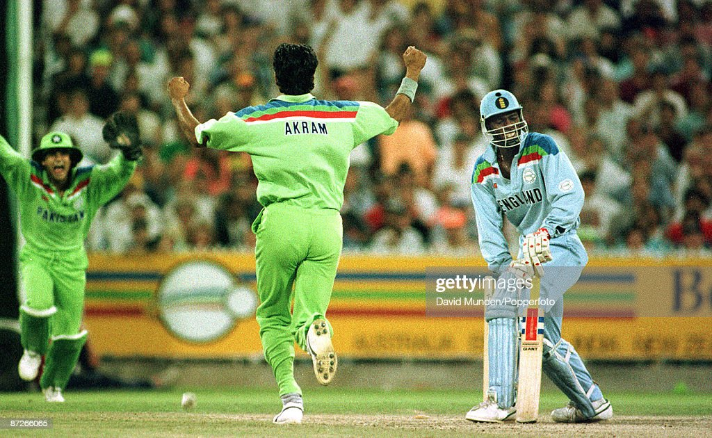 Cricket World cup final 1992 England v Pakistan CHRIS