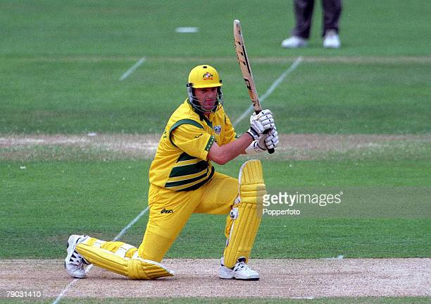 Cricket World Cup Final Lords 20th June Australia beat Pakistan by 8 wickets Australia's batsman Mark Waugh who made 37 not out