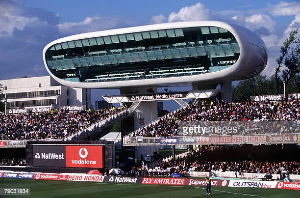 Cricket World Cup Lords 15th May England beat Sri Lanka by 8 wickets General view of the new Media Centre 'Press Box' at Lords cricket ground in...