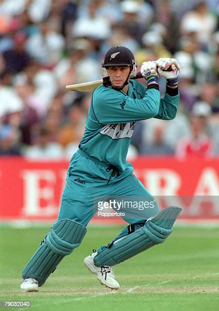 Cricket World Cup Trent Bridge 12th June New Zealand beat India by 5 wickets New Zealand's Matthew Horne batting