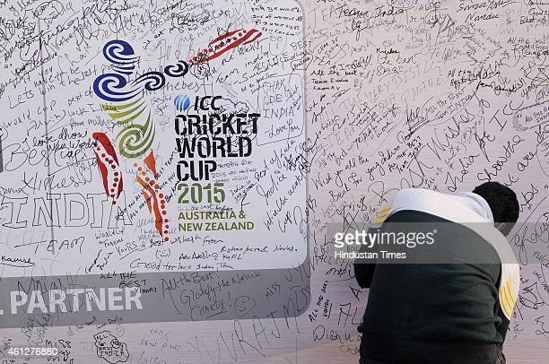 Cricket World Cup trophy was showcased and Signature campaign was hosted at a mall, on January 10, 2015 in Noida, India. The glittering trophy was...