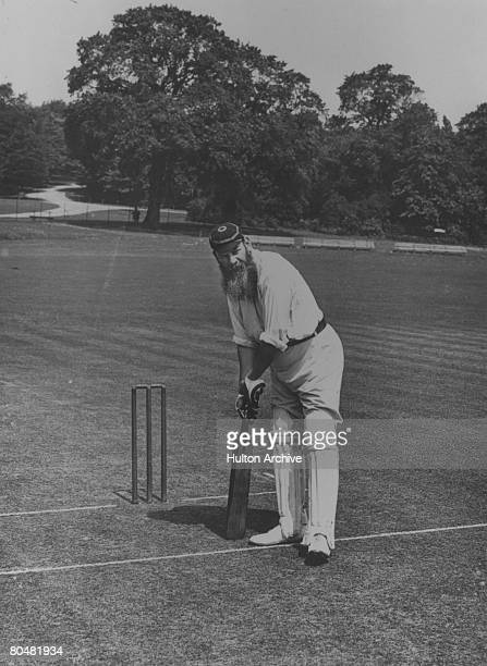 Cricketer and physician, William Gilbert Grace , circa 1890. Known as W G, he started playing first- class cricket for Gloucestershire in 1864 and...
