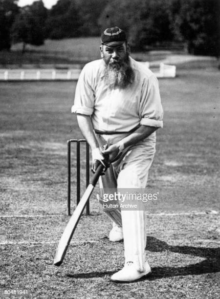 Cricketer and physician, William Gilbert Grace , circa 1890. Known as 'W G', he started playing first- class cricket for Gloucestershire in 1864 and...
