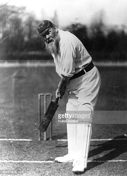 Cricketer and physician, William Gilbert Grace , circa 1900. Known as W G, he started playing first- class cricket for Gloucestershire in 1864 and...