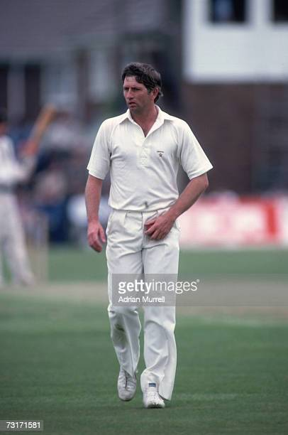 Cricketer Duncan Fletcher, captain of Zimbabwe, preparing to bowl, 30th June 1983.