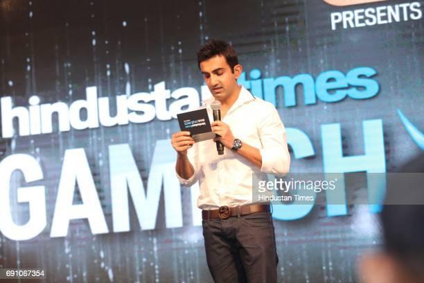 Cricketer Gautam Gambhir during the Hindustan Times Game Changer Awards 2017 at Hotel Oberoi on May 24 2017 in Gurgaon India