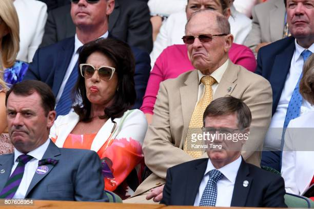 Cricketer Geoffrey Boycott and his wife Rachael attend day 2 of Wimbledon 2017 on July 4, 2017 in London, United Kingdom.