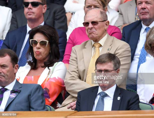 Cricketer Geoffrey Boycott and his wife Rachael attend day two of the Wimbledon Tennis Championships at the All England Lawn Tennis and Croquet Club...