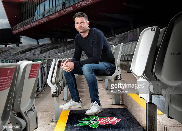 Cricketer James Anderson is photographed for the Sunday Times on April 29 2016 in Manchester England