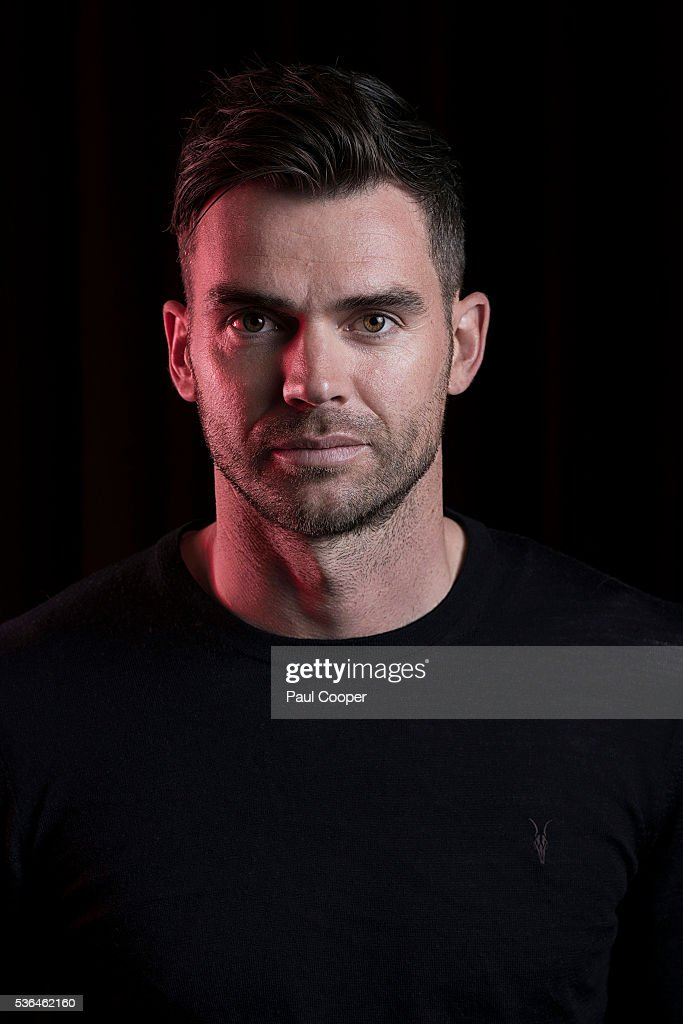 Cricketer James Anderson is photographed for the Sunday Times on April 29, 2016 in Manchester, England.