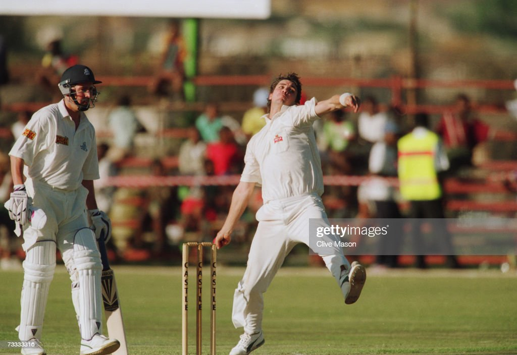 Meyrick pringle pictures getty images cricketer meyrick pringle bowling for a south african invitation xi against england at soweto cricket oval stopboris Choice Image