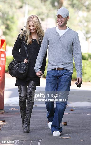 Cricketer Michael Clarke and model girlfriend Lara Bingle sighting at Orson and Blake in Surry Hills on May 6 2009 in Sydney Australia
