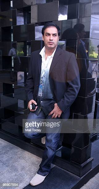 Cricketer Robin Singh arrives to attend the Indian Premier League auction at Bandra in Mumbai on January 19 2010