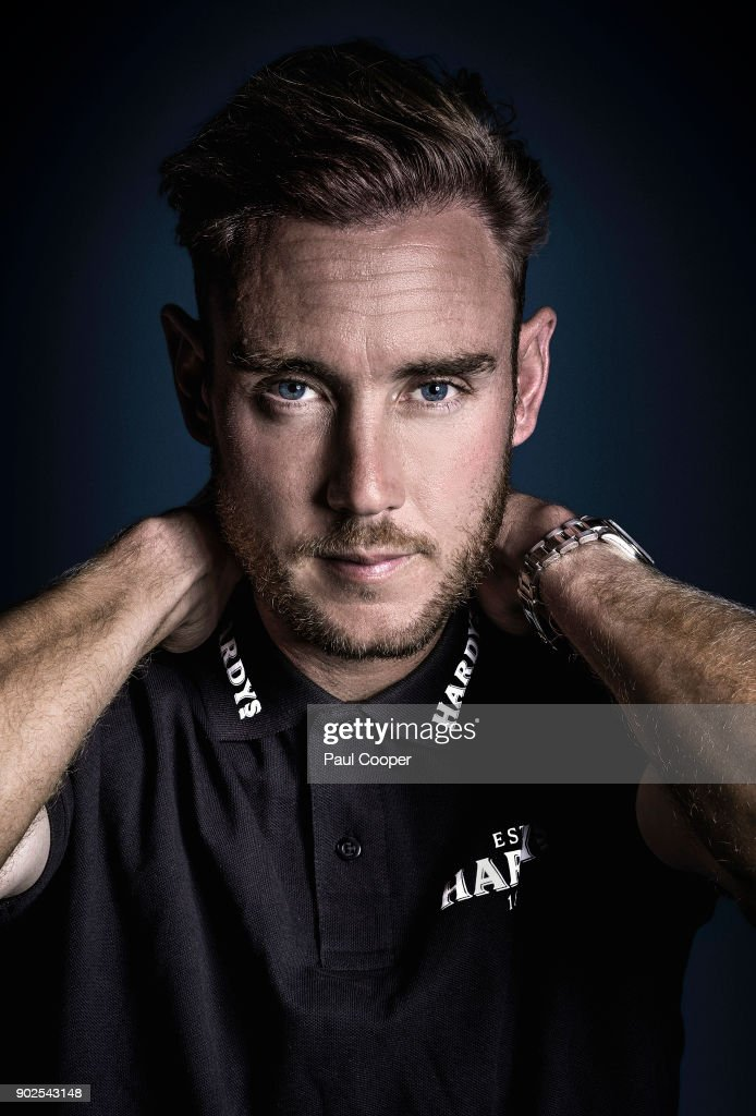 Cricketer Stuart Broad is photographed on August 1, 2017 in Nottingham, England.