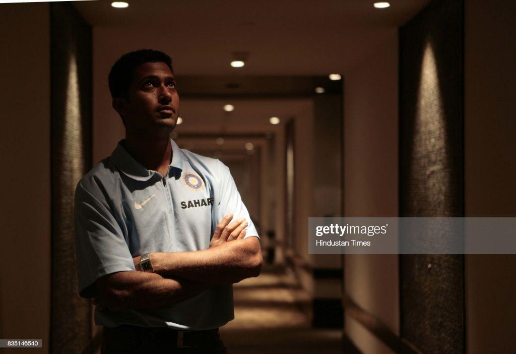 Cricketer Wasim Jaffer at Hyatt Hotel on Tuesday.