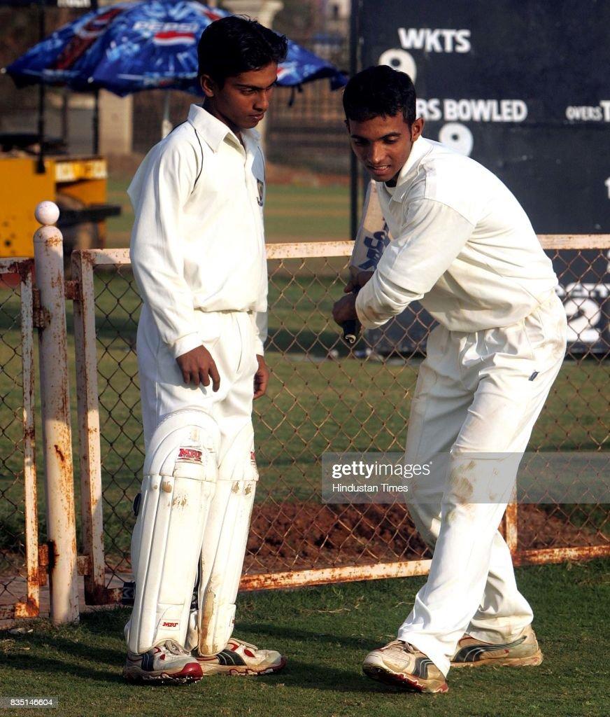 Cricketers (L to R) Omkar Gurav and Ajinkya Rahane.