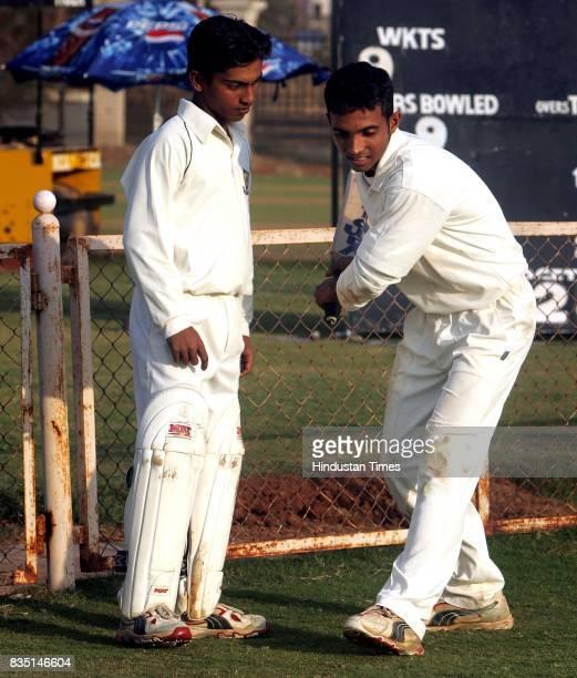 Cricketers Omkar Gurav and Ajinkya Rahane