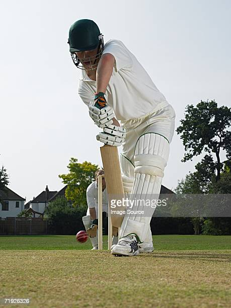 cricketers - batting stock pictures, royalty-free photos & images