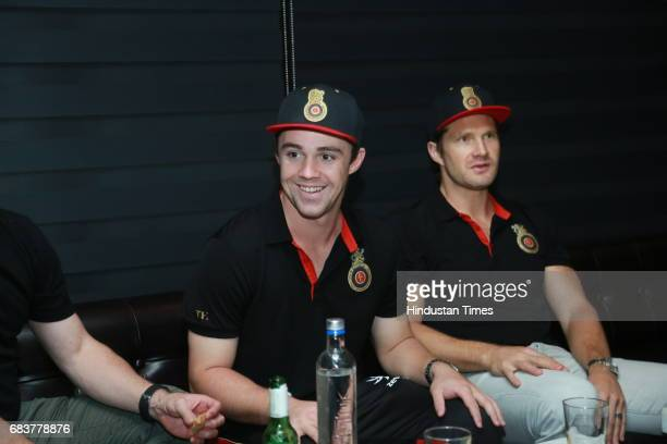 Cricketers Travis Head and Shane Watson during special dinner for Royal Challengers Bangalore teammates by Virat Kohli at his new restaurant Nueva RK...