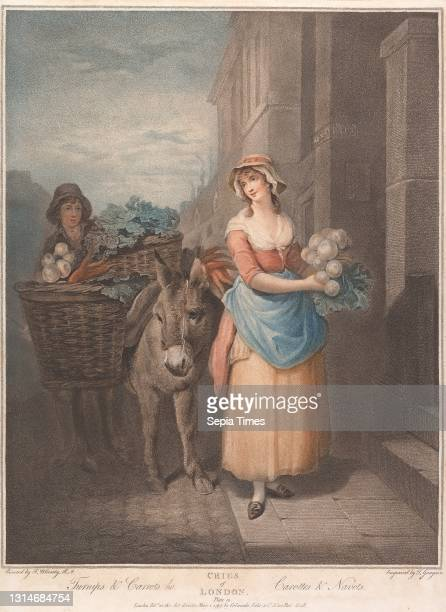Cries of London, Turnips and Carrots, Thomas Gaugain, 1748–1812, French, after Francis Wheatley, 1747–1801, British, Published by Colnaghi,...