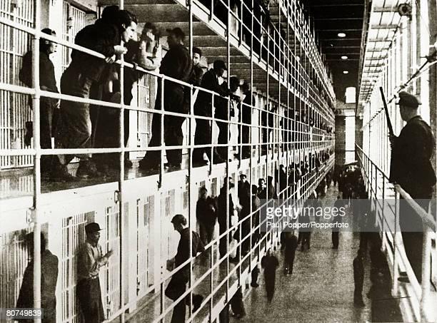 circa 1950's An interior view of San Quentin Prison USA