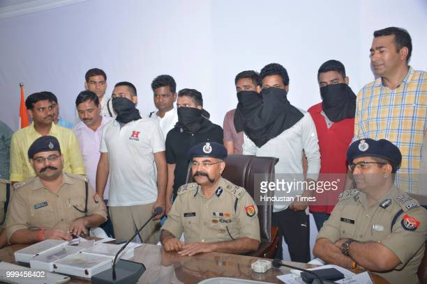 Crime Branch arrested five members of a gang one of which carried a reward of Rs 1 lakh and is a B tech civil engineer on July 15 2018 in Ghaziabad...
