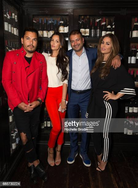 Crime By Design Ania Danilina Kamal Hotchandani and Carla DiBello attend Haute Living Celebrates Josh Duhamel Presented By Westime at AOC on May 19...