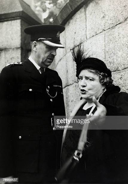 12th July 1955 Holloway London Mrs Van der Elst a famous campaigner against capital punishment with a police inspector Ruth Ellis was hanged on 13th...